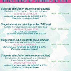 Tarifs & dates de stages Onnae été 2018